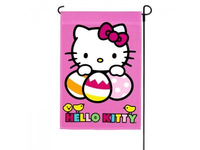 HELLO-KITTY-EASTER-EGGS-FLAGSIZE-12x18NEW