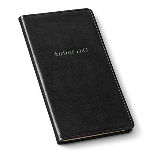 Gallery Leather Pocket Address Organizer Acadia Black by Gallery Leather