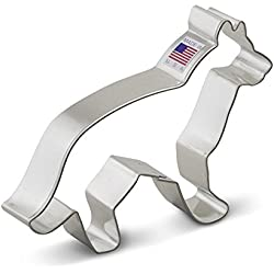 Ann Clark German Shepherd Cookie Cutter - 5 Inches - Tin Plated Steel