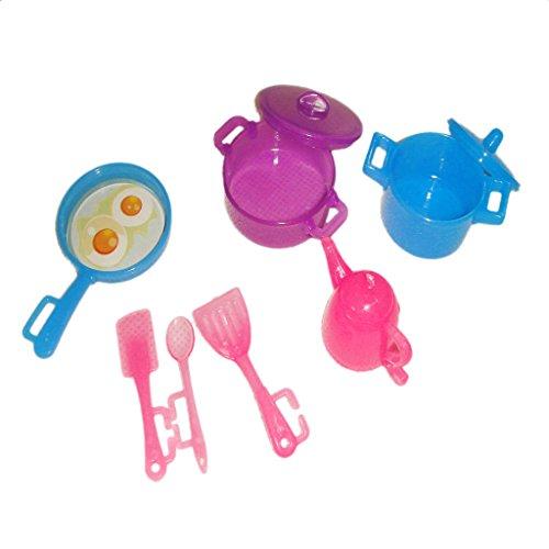 Casa De Munecas Juegos De Cocina Plasticos 29cm Para Barbie Color Al