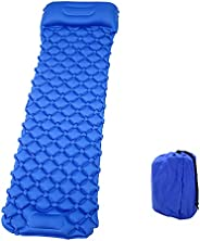 MAYQMAY Inflatable Sleeping Pad with Pillow, Built-in Pump, Ultralight Portable Comfortable Camping Mattress f
