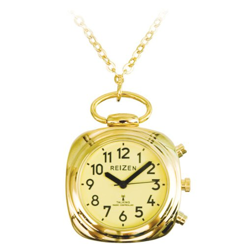 Talking Atomic Pendant Watch Yellow Face Goldtone