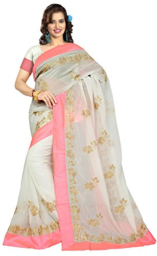 Indian Traditional Wear Women's Designer Embroidery Work Saree Sari Suit (Embroidery Sari Saree)