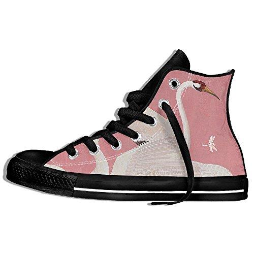 Classiche Sneakers Alte Scarpe Di Tela Anti-skid Swan Casual Da Passeggio Per Uomo Donna Nero