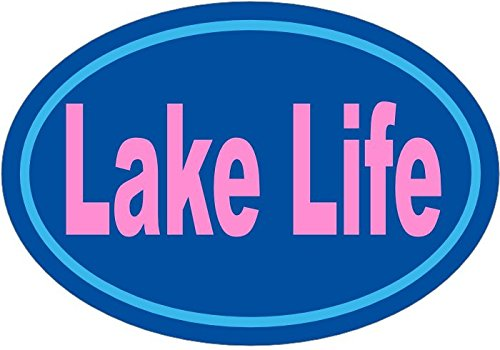 Bumpers Sticker Perfect Lake Home Decor Gift WickedGoodz Blue Pink Lake Life Vinyl Decal
