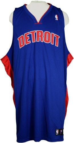 Adidas Detroit Pistons NBA Blank Authentic Jersey (52, Blue)