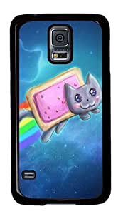 Rugged Samsung Galaxy S5 Case and Cover - Nyan Cat Pop Tarts Custom Design PC Case Cover for Samsung Galaxy S5 - Black