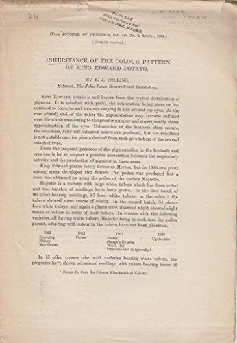 - Inheritance of the Colour Pattern of King Edward Potato