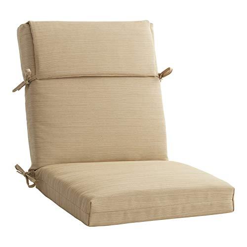 Allen roth 1 Piece Madera Linen Wheat Patio Chair Cushion