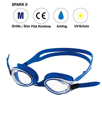 Fashy Unisexe Spark II Lunettes de natation M blau/Transparent