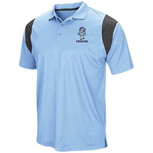 Colosseum Men's NCAA-Friend- Golf/Polo Shirt-North Carolina Tar Heels-Carolina Blue-XL