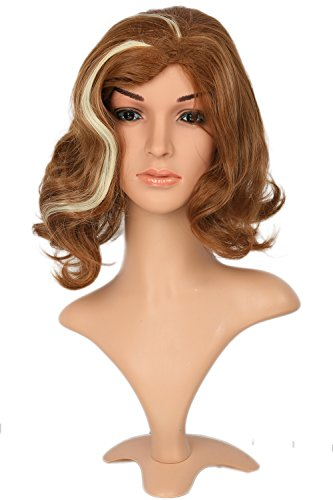 Coslive Alice Wig Hair Resident Cosplay Evil Short Curly Wig Costume Accessories