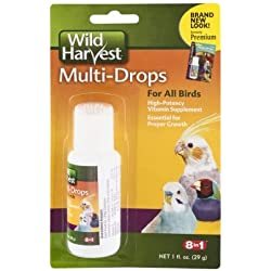 Wild Harvest Multi-Drops For All Birds High-Potency Vitamin Supplement, Essentiall For Proper Growth (Net wt 1 fl.oz)