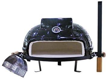GW 21inch cerámica Barbacoa Parrilla, Horno de Pizza al Aire Libre, Parrilla de Parrilla de carbón, 21
