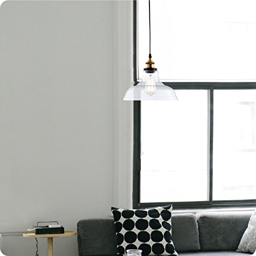 Light Society Classon Edison Pendant Light, Clear Glass Shade with Brushed Bronze Finish, Vintage Modern Industrial Lighting Fixture (LS-C171) by Light Society (Image #4)