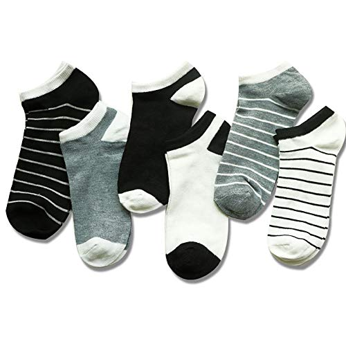 Amazon.com: DHmart 6Pair Striped Short Womens Socks Slippers Non-Slip Invisible Shallow Mouth Socks Summer Ladies Low Cut Ankle Socks Calcetines: Kitchen & ...