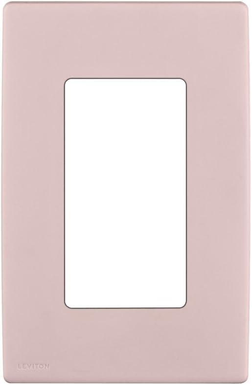 Leviton REWP1-FP Renu One-Gang Screwless Snap-On Wallplate, Fresh Pink Lemonade