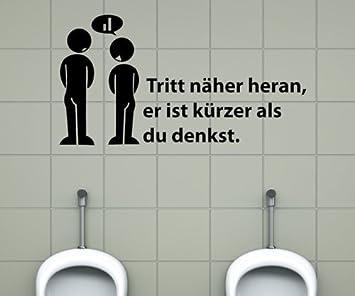 Toiletten Spruch Aufkleber, Wandtattoo Badezimmer, WC Bad ...