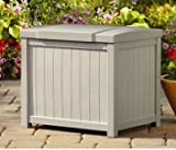 Deck Box, Patio Storage - Small, 2.9 Cu.Ft, 22 Gal, Resin, Color Light Taupe