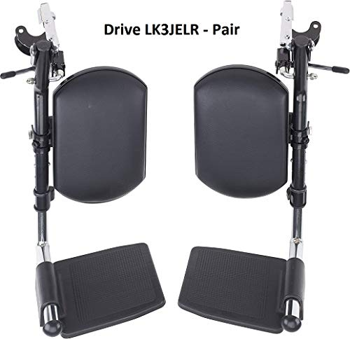 Drive Wheelchair Elevated Leg Rests - Pair (See Descrip for Compatible Models)