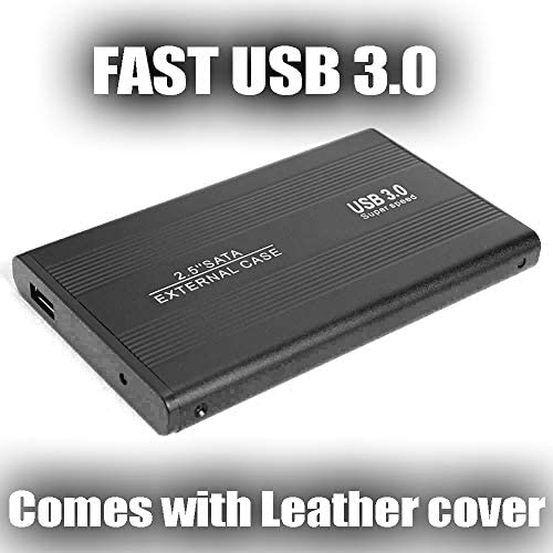 2,5 Zoll Portable 500GB Externe Festplatte HDD - SATA 3.0 für PC Laptop Mac Xbox PS4 Super Fast 500GB Schwarz 500 GB