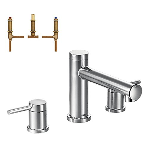 Moen KT-T393-92CH Align 2-Handle Roman Tub Faucet with 1/2-Inch CC Rough-in, Chrome