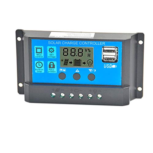 ❤️MChoice❤️20/30A Solar Panel Regulator Charge Controller USB 20A 12V-24V + Anderson Plugs (30A)