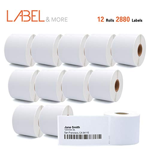 LABEL&MORE DYMO 30323 Compatible Standard Direct Thermal Address and Shipping Labels 2-1/8