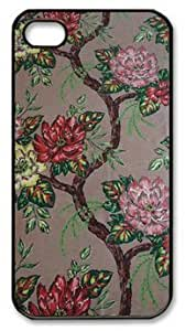 The Beauty of the Peony DIY Hard Shell Black iphone 4/4s Case Perfect By Custom Service