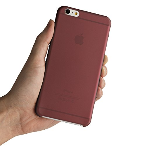 iPhone 6 Plus Case, iPhone 6s Plus Case , Thinnest Cover Premium Ultra Thin Light Slim Minimal Anti-Scratch Protective - For Apple iPhone 6 Plus 5.5 inch | totallee The Scarf (Burgundy Red)