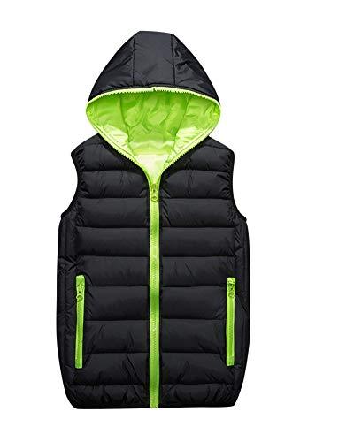 Gilet Liangzhu Senza Bodywarmer Verde Smanicato Maniche Uomo Gilets Casual Con Cappuccio Giacca Giubbino Nero 55qfr