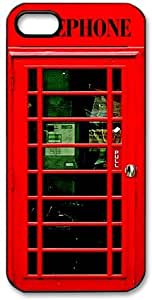 Phone Booth HD image case cover for iphone 5 black A Nice Present