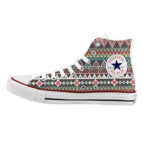 Scarpe Converse Personalizzate All Star Alta - sneakers stampa Young tribal