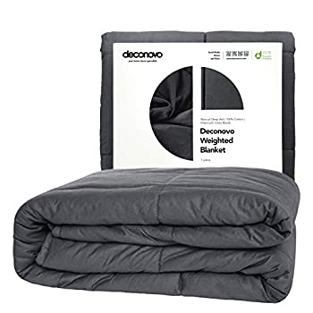 Image of Deconovo Weighted Blanket ? 100% Cotton Heavy Blanket Filled with Glass Beads (60 x 80 inch | 17 lbs) Deconovo B07L63VHL5 Weighted Blankets