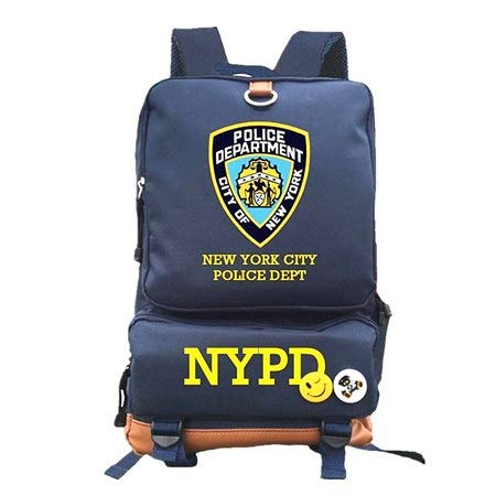 Stylish Travel Large Capacity Backpack NYPD School Bags Male Luggage  Shoulder Bag Computer Backpacking Functional 4eef8343721b8