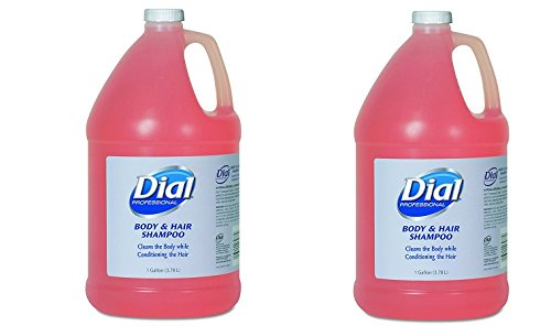 Dial Professional 03986 Body and Hair Care, 1gal Bottle, Gender-Neutral Peach Scent (Case of 4) (2-(Case of 4))