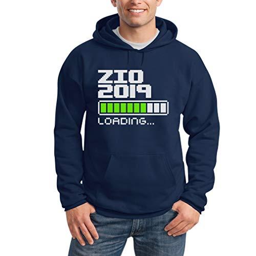 Zio Da Regalo Felpa Per Shirtgeil Con 2019 Idea Uomo Cappuccio Futuro Loading Blu 1wndqg