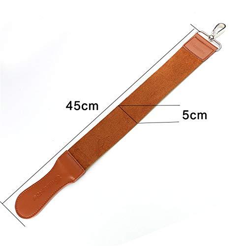 Glätteisen für Rasiermesser Extra breite Version von Leder aus Rindleder Zum Schärfen von Rasierern by AXEMOORE