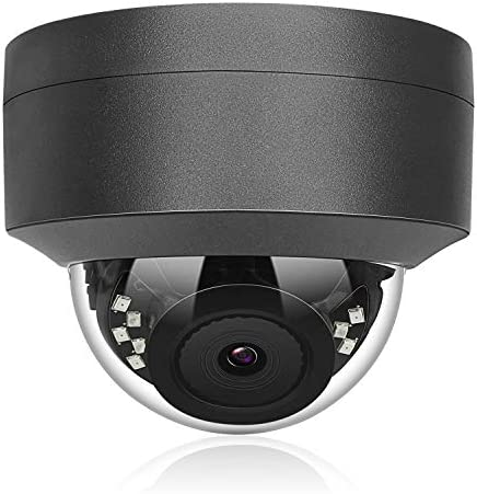Anpviz 5MP H.265 IR Dome IP Camera PoE, IP Security Camera Night Vision 98ft, Motion Alert, Weatherproof IP66 Indoor Outdoor ONVIF Compliant, Wide Angle 2.8mm Hikvision Compatible Grey IPC-D250G