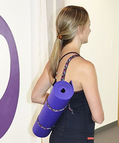 YogaAccessories Embroidered Yoga Pilates Mat Sling Strap