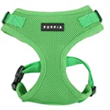 Authentic Puppia RiteFit Harness with Adjustable Neck, Green, Large