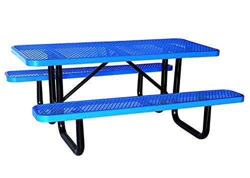 Lifeyard Expanded Steel Frame Mesh Commercial Picnic Table With - Mesh picnic table