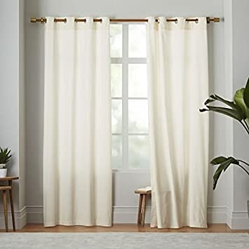 Amazon.com: 2 Panel Curtain 100% Cotton very thick material 60 ...
