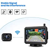 AUTO-VOX W7 Digital Wireless Backup Camera, 5'' LCD Monitor and IP68 Waterproof Wireless Rear View Camera for Truck, Cars,Trailer