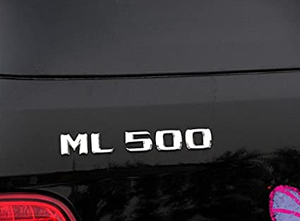 E816 Ml 500 Emblem Badge Auto Aufkleber Schriftzug Hinten Abzeichen Car Sticker Zahlziffer Chrom Ml 50 Auto