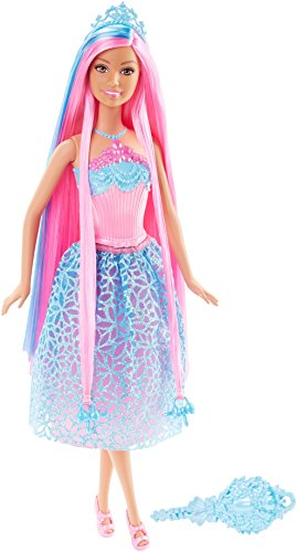 Barbie Endless Hair Kingdom Princess Doll, Blue