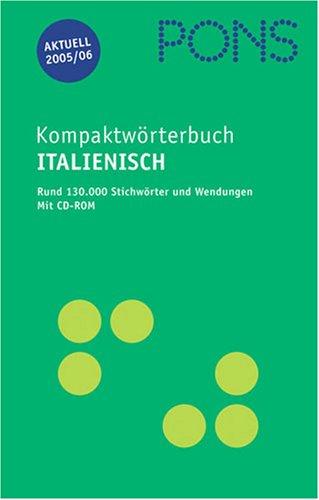 PONS Kompaktwörterbuch Italienisch, Ausgabe 2005/06