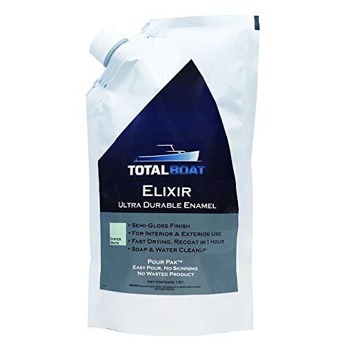 TotalBoat Elixir Enamel | Water-Based Marine Paint (Oyster White, Quart)