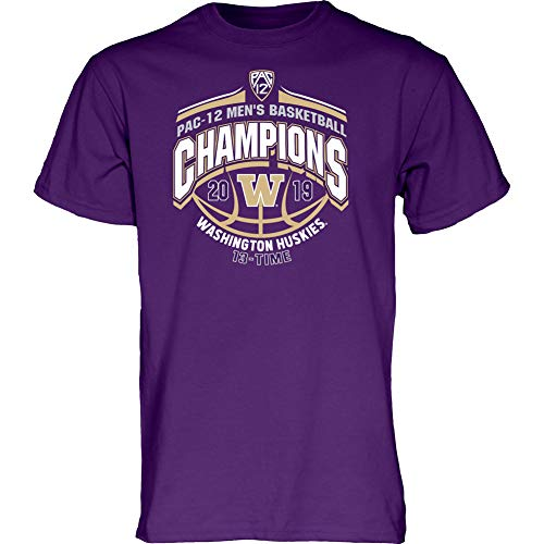 Mens Basketball Husky - Elite Fan Shop Washington Huskies Pac-12 Basketball Champs Tshirt 2019 Conference - L - Purple