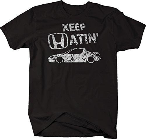 OS Gear Distressed - Keep Hatin Honda Del Sol Lowered Fast JDM Race Tshirt - Medium